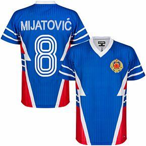 1990 Yugoslavia Retro Shirt + Mijatović 8 (Retro Flock Printing)