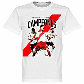 River Plate 2018 Copa Libertadores Campeones KIDS Tee - White