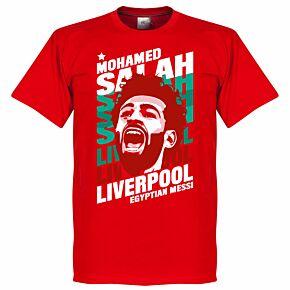 Salah Liverpool Portrait Tee - Red
