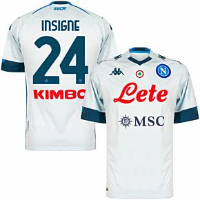 20-21 Napoli Away Shirt + Insigne 24 (Official Printing)