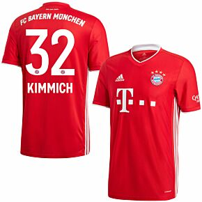 20-21 Bayern Munich Home Shirt + Kimmich 32