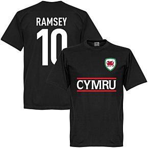 Cymru Ramsey 10 Team Tee - Black
