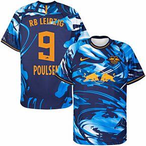 20-21 RB Leipzig 3rd Shirt + Poulsen 9 (Official Printing)