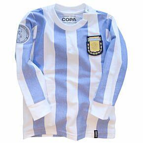 COPA Infant Football Shirt Argentina L/S Retro Shirt - Boys