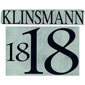 Klinsmann 18 - 1996 Germany Home Name and Number Transfer