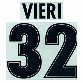 Vieri 32 - 1998 Lazio Home Flock Name and Number Transfer