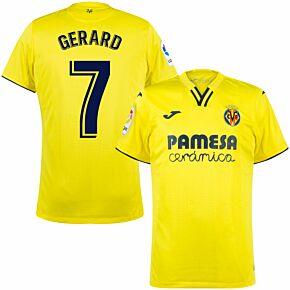 21-22 Villarreal Home Shirt + Gerard 7 (Fan Style Printing)