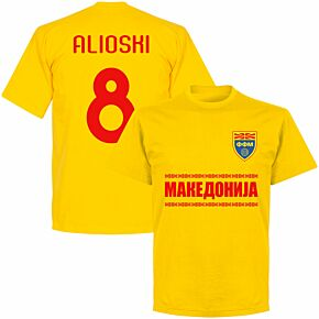 Macedonia Alioshi 8 Team T-shirt - Yellow