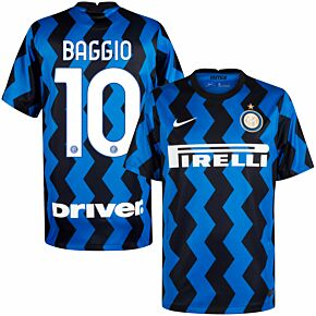 20-21 Inter Milan Home Shirt + Baggio 10 (Official Printing)