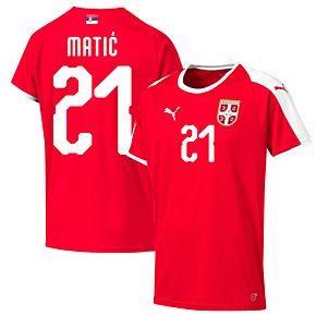 Serbia Home Matic 21 Jersey 2018 / 2019 (Official Printing)