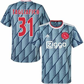 20-21 Ajax Away Shirt + Tagliafico 31 (Fan Style Printing)
