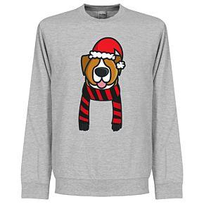 Dog Red / Black Supporter Sweatshirt - Grey
