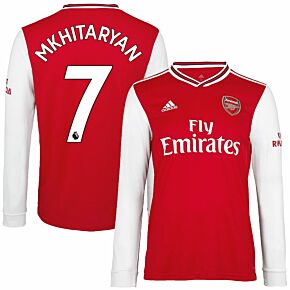 adidas Arsenal Home L/S Mkhitaryan 7 Jersey 2019-2020 (Official Premier League Printing)