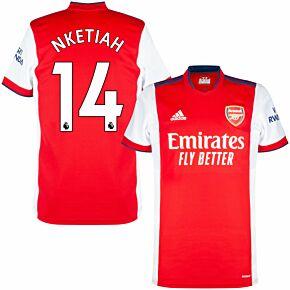 21-22 Arsenal Home Shirt + Aubameyang 14 (Premier League)