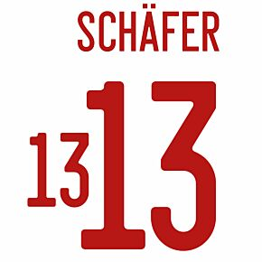 Schäfer 13 (Official Printing) - 21-22 Hungary Away