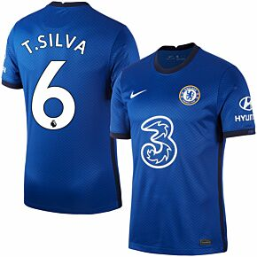 20-21 Chelsea Home Shirt + T. Silva 6 (Premier League)