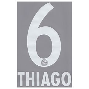 Thiago 6 - Boys - 13-14 Bayern Munich Home Official Name & Number