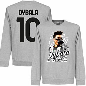 Dybala 10 Celebration Sweatshirt - Grey Heather