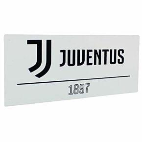 Juventus Street Sign - White (40cm x 18cm)