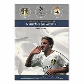 Leeds Utd vs Deportivo La Coruna - Champions League Quarter Final 1st Leg at Elland Road, 4/04/01