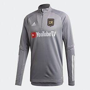 20-21 Los Angeles FC 1/2 Zip Train Top - Grey