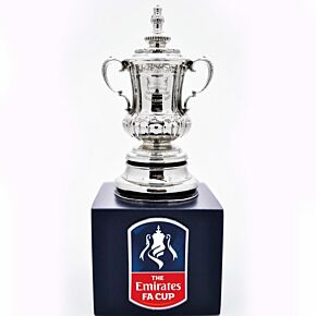 FA Cup Official Replica Trophy (70mm) on Wooden Pedestal