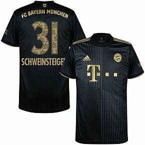 21-22 FC Bayern Munich Away Shirt + Schweinsteiger 31 (Danke Basti Printing)