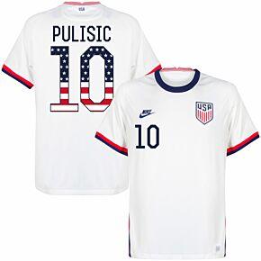 20-21 USA Home Shirt + Pulisic 10 (Independence Day Printing)