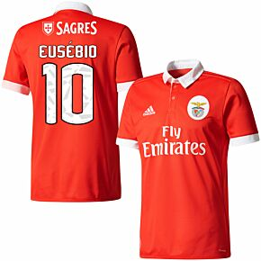 17-18 Benfica Home Shirt + Eusébio 10 (Fan Style)