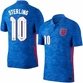 20-21 England Vapor Match Away Shirt + Sterling 10 (Official Printing)