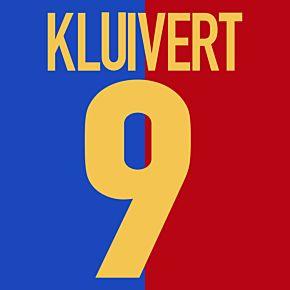 Kluivert 9 - Barcelona Centenary 1998-1999 Replica Flex Printing
