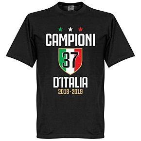 Campioni D'Italia 37 Tee - Black