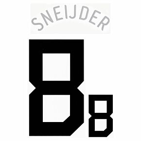 Sneijder 8 - 06-07 Holland Home Official Name and Number