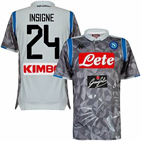 18-19 Napoli Authentic 3rd Shirt + Insigne 24 (Fan Style Printing)