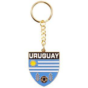 Uruguay Enamel Keyring
