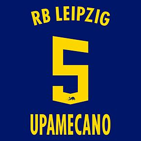 Upamecano 5 (Official Printing) - 20-21 RB Leipzig Away