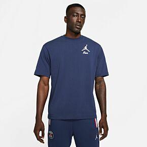 21-22 PSG x Jordan Statement T-Shirt 2 - Navy