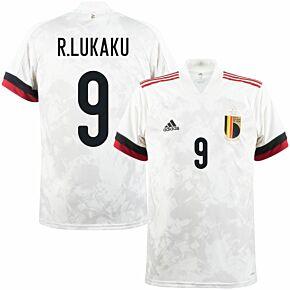 2021 Belgium Away Shirt + R.Lukaku 9 (Official Printing)
