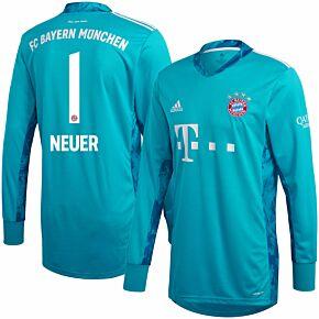 20-21 Bayern Munich Home GK Shirt + Neuer 1