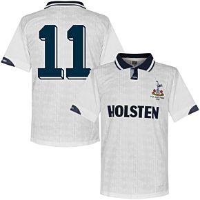 1991 Tottenham Home FA Cup Final Retro Shirt + No. 11