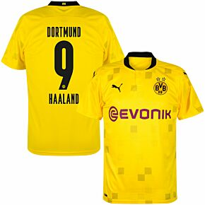 20-21 Borussia Dortmund Cup Shirt + Haaland 9 (Official Printing)