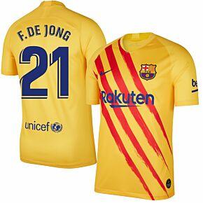 Nike Barcelona 4th F. De Jong 21 Shirt 2019-2020 (Fan Style Printing)