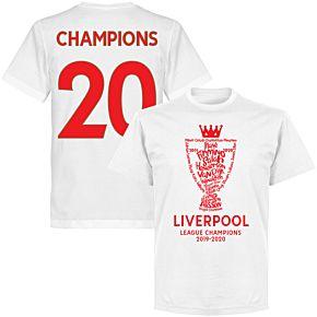 "Liverpool 2020 League Champions Trophy ""Champions 20"" KIDS T-shirt - White"