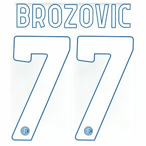 Brozovic 77 (Official Printing - No Accent) - 20-21 Inter Milan Home