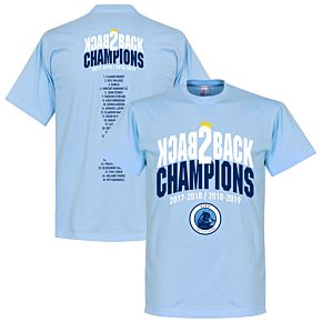 City Back to Back Champions Squad Tee - Sky