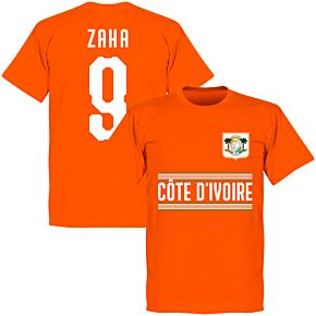 Ivory Coast Zaha 9 Team T-Shirt - Orange