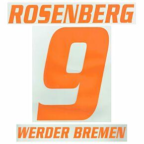 Rosenberg 9 - 08-09 Werder Bremen Away Name and Number Transfer