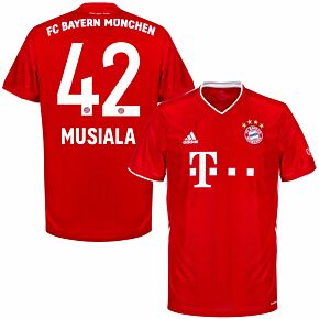 20-21 Bayern Munich Home Shirt + Musiala 42 (Official Printing)