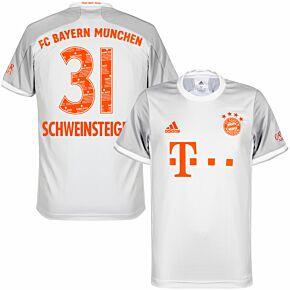 20-21 Bayern Munich Away Shirt + Schweinsteiger 31 (Danke Basti Printing)