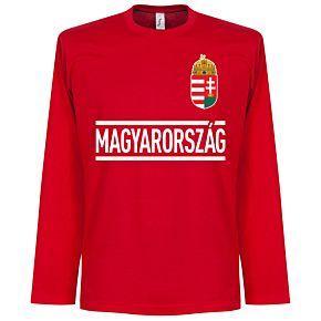 Hongarije Longsleeve Team Tee - Red